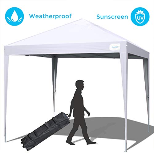 Quictent Upgraded Privacy 10x10 EZ Pop Up Canopy Tent Instant Folding Outdoor Gazebo Party Tent Waterproof (White)
