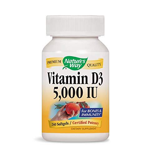 Nature's Way Vitamin D3 5000 IU; 5000 IU per Serving; 240 Softgels ()