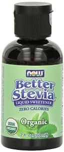 NOW Foods Organic BetterStevia Liquid,2-Ounce