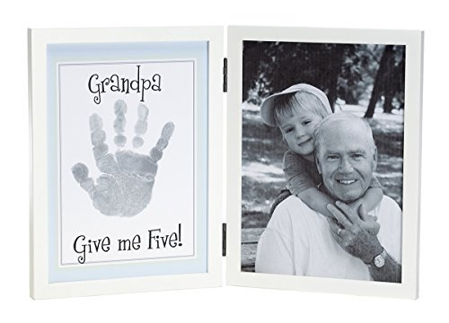 11½ INCH GRANDPA GIVE ME FIVE! Handprint Frame Kit with Ink for Handprint by The Grandparent Gift Co.