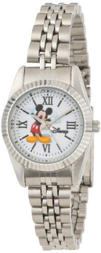 Disney Women's W000581 Mickey Mouse Silver-Tone Status Watch by Ewatchfactory