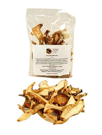 Matsutake Mushrooms (Dried Matsutake Mushrooms - 1 Oz. Bag - Dehydrated Edible Gourmet Tricholoma Matsutake Fungi: AKA Pine Mushrooms)