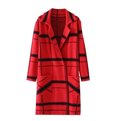 Tasche Stampate Pulsante Giacca Di Modern A Invernali Maglia Lunga Pattern Rot Manica Outwear Mode Maglioni Moda Donna Giubotto Autunno Stile Marca Casual Anteriori Pdw7aPq