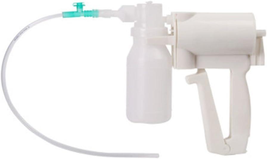 YAOUFBZ Bomba de succión portátil Manual,Equipo de Terapia para el hogar de la máquina de secreción de moco flema portátil de Mano,fácil de Limpiar