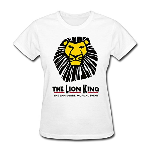 AOPO The Lion King The Landmark Musical Event Tee Shirts For Women X-Large White