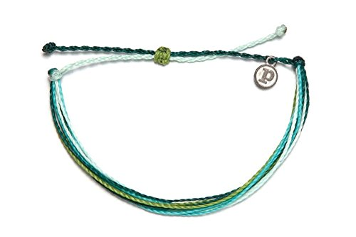 (Pura Vida Coral Reefin' Bracelet- 100% Waterproof Wax Coated Girls' Accessories- Handmade)