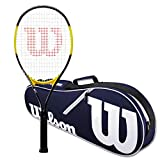 Wilson Energy XL Strung Tennis Racquet Set or Kit Bundled with a Navy/White Wilson Advantage Tennis Racket Bag