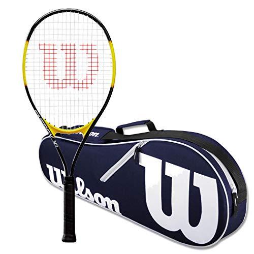 Wilson Energy XL Strung Tennis Racquet Set or Kit Bundled with a Navy/White Wilson Advantage Tennis Racket Bag