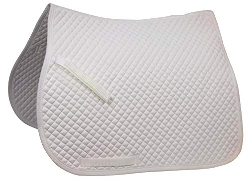 Derby Originals Dressage Saddle Pad with Gold Rope, White