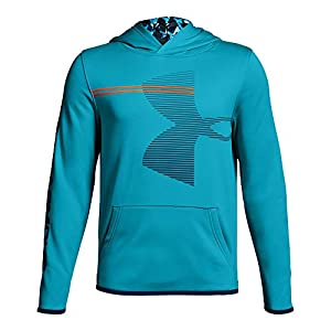 Under Armour Boys' Armour Fleece Hoodie, Deceit (440)/Techno Teal, Youth Large