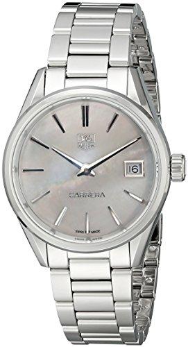 TAG Heuer Women's WAR1311.BA0773 Carrera Analog Display Swiss Quartz Silver Watch