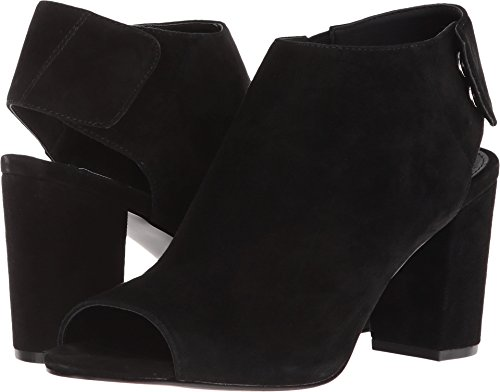 Steve Madden Women's NONSTP Heeled Sandal, Black Suede, 8.5 M ()