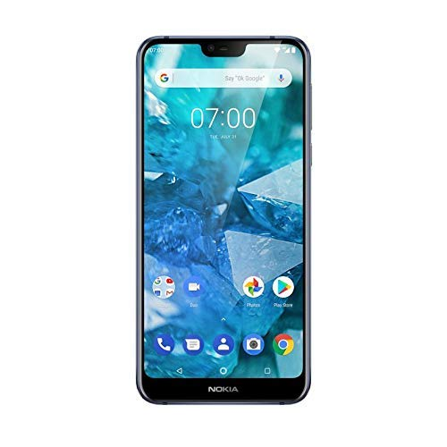 Nokia 7.1 5.8-Inch Android One UK SIM-Free Smartphone with 3GB RAM and 32GB Storage – Blue (Renewed)