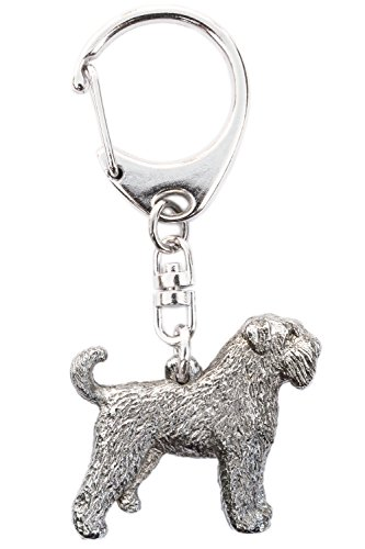 Bouvier Des Flandres (With Tail) Made in U.K Artistic Style Dog Key Ring Collection