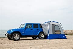 This innovative tent wraps around the cargo area of your vehicle, allowing total access to your vehicle for storage or an additional sleeping area. No more having to unzip and zip tent doors and open and close vehicle doors to get something y...