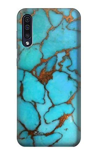 (R2685 Aqua Turquoise Gemstone Graphic Printed Case Cover for Samsung Galaxy A50)