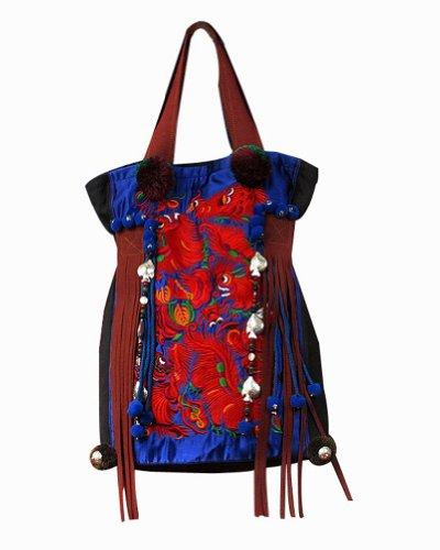 100% Fait Main Sac à Main Femme Cabas Shopping - Broderie d'Art Oriental #113