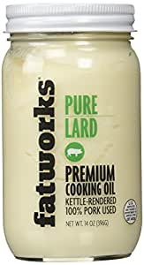 Pure Pork Lard, Free Range & Pasture Raised, 14oz (1 Jar)