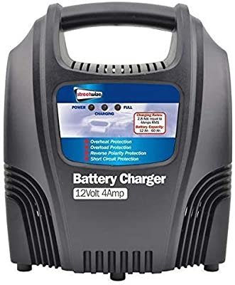 Streetwize SWBCG4 Automatic Plastic Cased Battery Charger 12 V 4 A