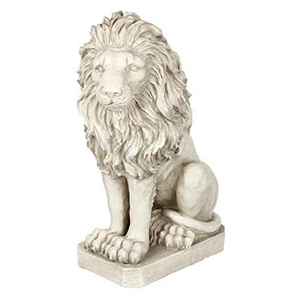Amazon.com: Design Toscano Mansfield estatua de león ...