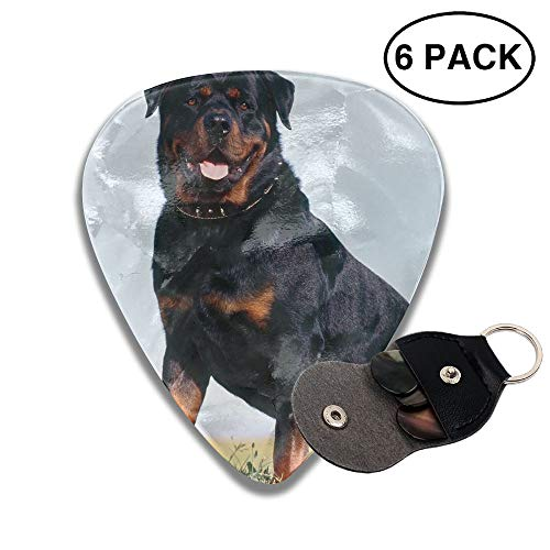 Colby Keats Guitar Picks Plectrums Frendly Dog Animal Pet Classic Electric Celluloid Acoustic for Bass Mandolin Ukulele 6 Pack 3 Sizes .96mm