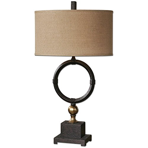 (Uttermost 26296-1 Pueblo Circle Table Lamp, Black )