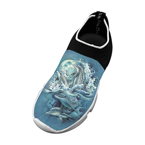 New Trendy Flywire Knitting Shoe 3D Customizable With Dolphins For Boy Girl