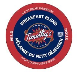TIMOTHY'S BREAKFAST BLEND COFFEE K-CUPS 48 (Timothys Breakfast Blend Coffee)