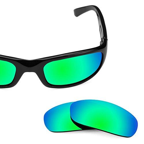 Verres de rechange pour Maui Jim Stingray MJ103 — Plusieurs options Vert Emeraude MirrorShield® - Polarisés