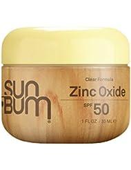 Sun Bum Clear Zinc Oxide Sunscreen Lotion, SPF 50, 1 oz. Jar, 1 Count, Broad Spectrum UVA/UVB Protection, Paraben Free, Gluten Free, Oil Free