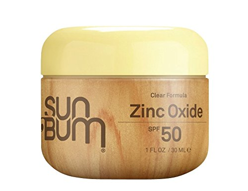 Sun Bum Clear Zinc Oxide Sunscreen Lotion, SPF 50, 1 oz. Jar, 1 Count, Broad Spectrum UVA/UVB Protection, Paraben Free, Gluten Free, Oil Free