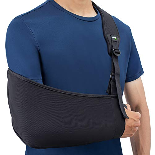 (Think Ergo Arm Sling Air - Lightweight, Breathable, Ergonomically Designed Medical Sling for Broken & Fractured Bones - Adjustable Arm, Shoulder & Rotator Cuff Support)
