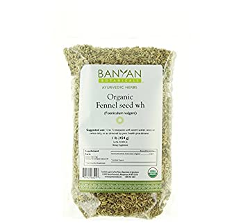 Banyan Botanicals Fennel Whole - Certified Organic, 1 lb - Foeniculum vulgare - Aromatic spice that supports healthy digestion