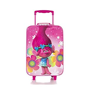 Heys Trolls Brand New Classic Designed Kids Basic Soft Side Luggage 17 Inch