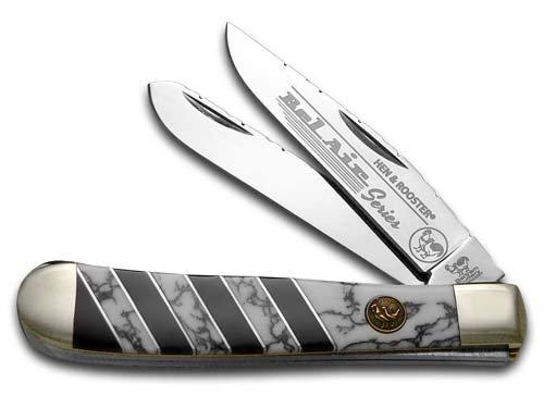 Hen and Rooster Bel Air Wildhorse Jasper Trapper Stainless Pocket Knife Knives