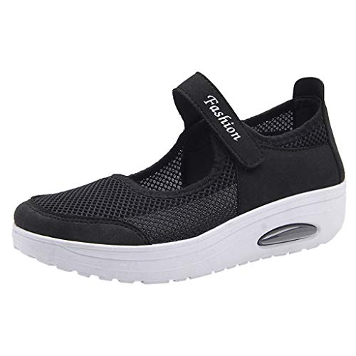 Sherostore ♡ Women's Mesh Walking Shoes Platform Sandals Lightweight Wedges Loafers Fitness Sneakers Mary Jane Shoes -