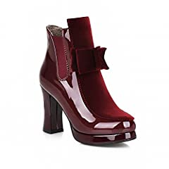 Women's Fashion Bows Platform High Heel Bungee Ankle Boots