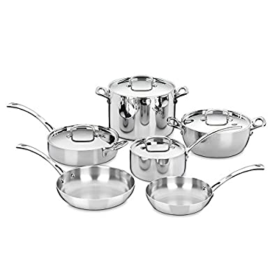 Cuisinart FCT-10 French Classic Tri-Ply Stainless 10 Piece Cookware Set