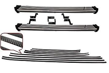 KITT® RBMBW463 - Estribos laterales para correr + tiras de molduras para puerta de carbono: Amazon.es: Coche y moto