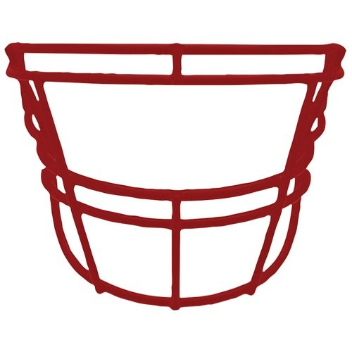 - Schutt Sports DNA EGOP II Carbon Steel Varsity Football Faceguard, Cardinal, Small/Large