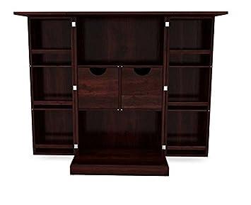 Ringabell Tavern Solid Wood Bar Cabinet (Mahogany Finish)