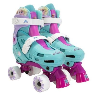 PlayWheels Disney Frozen Kids Classic Quad Roller Skates - Size 1-4 by PlayWheels
