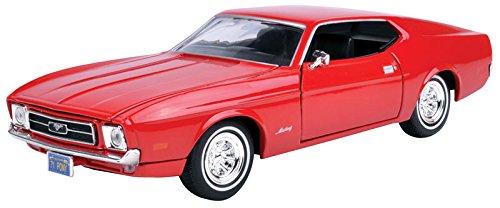 Ford Mustang Sportsroof (1971) 1/24 Scale Diecast Metal Model - RED -  MOTORMAX, MOT73327AC-R