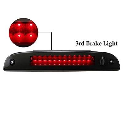Third 3rd Brake CHMSL Center High Mount Stop/Brake Light Lamp Replacement for 2002-2010 Ford Explorer/Mercury Mariner (Black Housing Smoke LEDs): Automotive