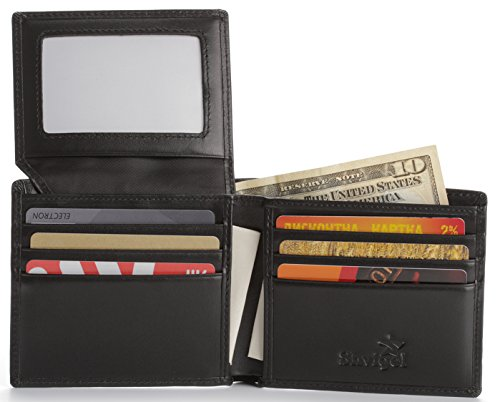 Shvigel Bifold Men's Wallet made of Genuine Leather with RFID-Blocking and ID Window