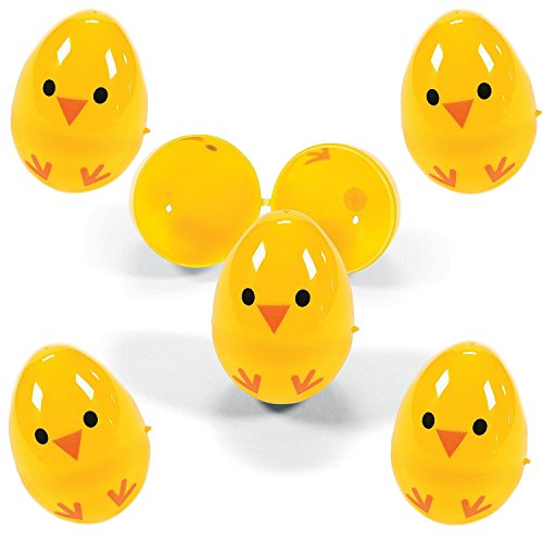 Small Plastic Pastel - Set of 72 Chicks Plastic Easter Eggs, Assorted Colors