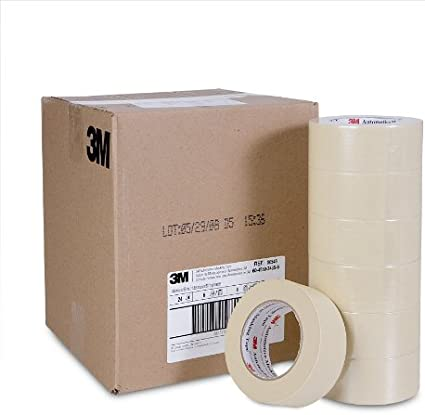 3M 06548 48 mm x 55 m Automotive Masking Tape Pack of 24