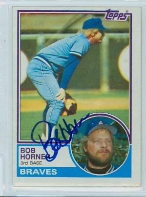 Bob Horner AUTOGRAPH 1983 Topps #50 Atlanta Braves