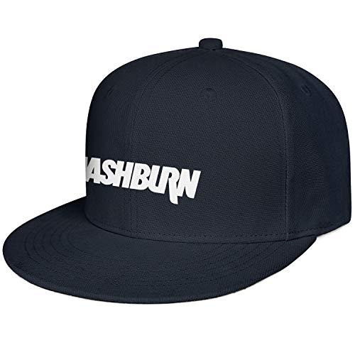 M.STRA Unisex Navy_Blue Snapback Hats for Mens Womens Sport Washburn-Guitars-Logo- Caps ()