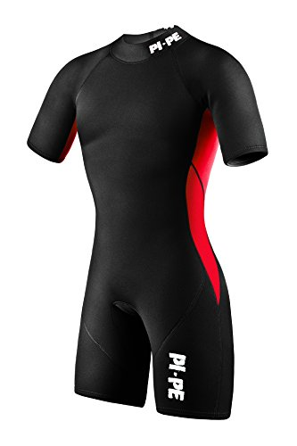 Red Shorty Wetsuit (PI-PE Men´s Neopren Wetsuit Shorty Pure M Red N)